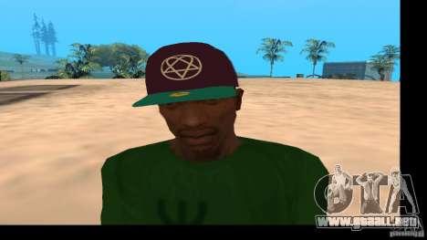 Gorra de béisbol con el logo de la banda HIM para GTA San Andreas tercera pantalla