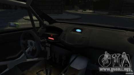 Ford Fiesta RS WRC para GTA 4 vista hacia atrás