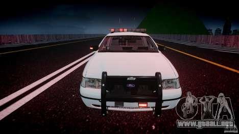 Ford Crown Victoria v2 NYPD [ELS] para GTA 4 vista superior