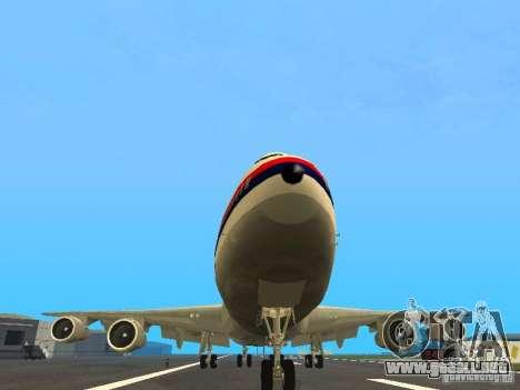 Boeing 747-100 Japan Airlines para GTA San Andreas vista hacia atrás