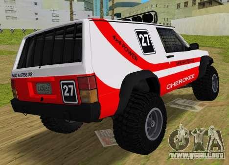 Jeep Cherokee 1984 Sandking para GTA Vice City left