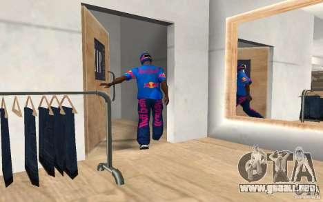 Red Bull Clothes v2.0 para GTA San Andreas tercera pantalla