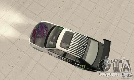 Lexus IS300 Drift Style para GTA San Andreas vista posterior izquierda