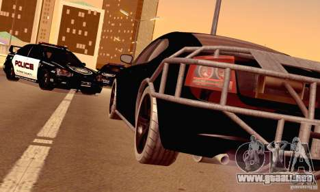 Dodge Charger Fast Five para vista lateral GTA San Andreas