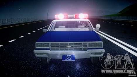 Chevrolet Impala Police 1983 [Final] para GTA motor 4