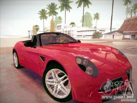 Alfa Romeo 8C Spider para la visión correcta GTA San Andreas