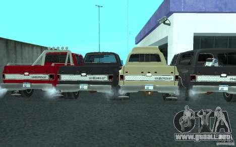 Chevrolet Silverado 3500 para vista inferior GTA San Andreas