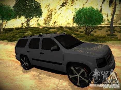 Chevrolet Tahoe HD Rimz para la visión correcta GTA San Andreas
