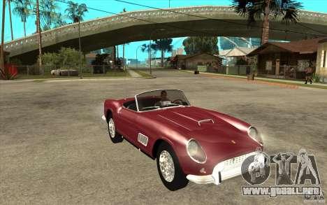 Ferrari 250 California 1957 para GTA San Andreas vista hacia atrás