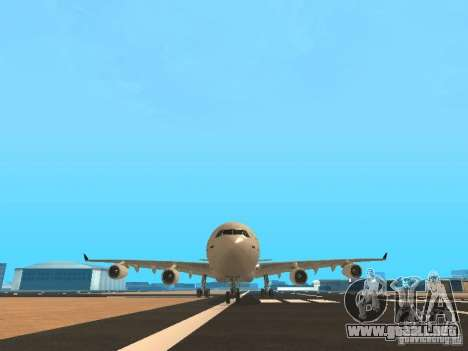 Airbus A340-300 Air Canada para vista inferior GTA San Andreas