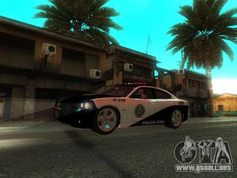 Dodge Charger SRT8 Police para la vista superior GTA San Andreas