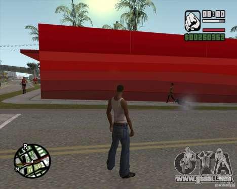 Ecko tienda para GTA San Andreas sucesivamente de pantalla