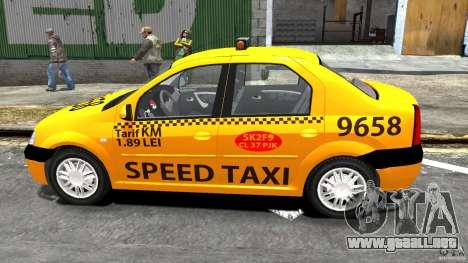 Dacia Logan Prestige Taxi para GTA 4 left