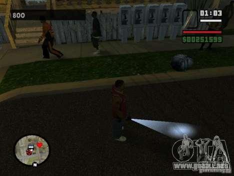 Linterna para GTA San Andreas