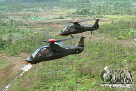 Sikorsky RAH-66 Comanche default grey para vista lateral GTA San Andreas