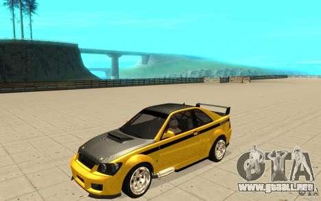 GTA IV Sultan RS FINAL para vista inferior GTA San Andreas
