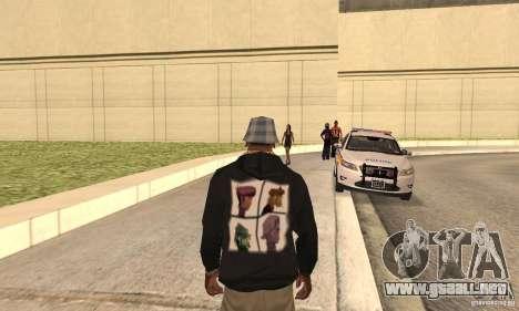 Gorillaz skin para GTA San Andreas segunda pantalla