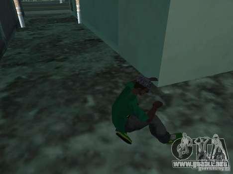 Nuevas zapatillas verdes para GTA San Andreas tercera pantalla