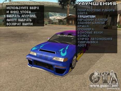 Clavijero en cualquier lugar para GTA San Andreas sexta pantalla