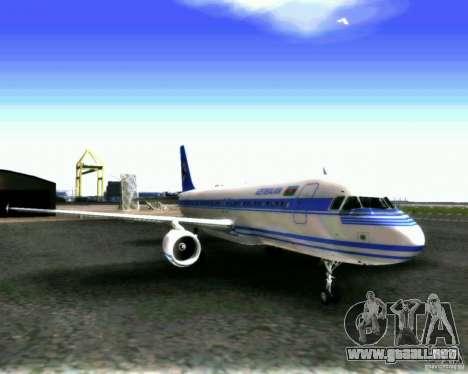Airbus A-320 Azerbaijan Airlines para GTA San Andreas left