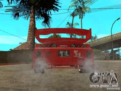 Toyota Supra Chargespeed para GTA San Andreas vista posterior izquierda