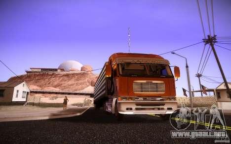 Freightliner Argosy para GTA San Andreas left