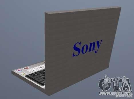 Laptop Haft-Bombe para GTA San Andreas segunda pantalla