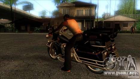 Harley Davidson para GTA San Andreas vista posterior izquierda
