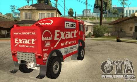 MAN TGA Rally OFFROAD para GTA San Andreas vista hacia atrás