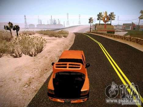 Dodge Ram 1500 Dacota para la vista superior GTA San Andreas