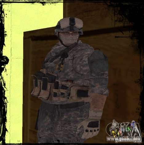 Soldado de infantería de Estados Unidos para GTA San Andreas