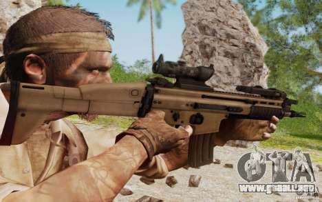 FN Scar L para GTA San Andreas quinta pantalla