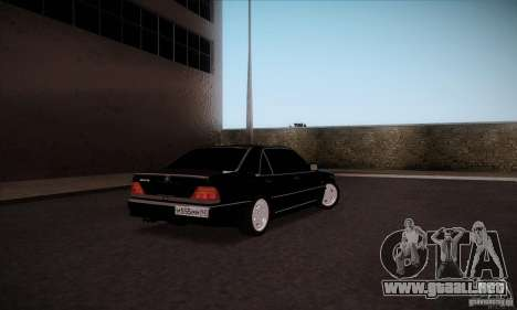 Mercedes-Benz 600SEL AMG 1993 para GTA San Andreas vista posterior izquierda