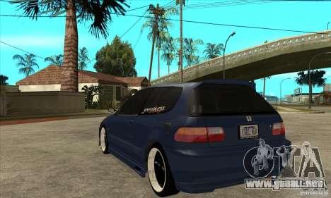 Honda Civic EG6 para GTA San Andreas vista posterior izquierda