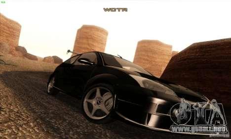 Ford Focus SVT TUNEABLE para la vista superior GTA San Andreas