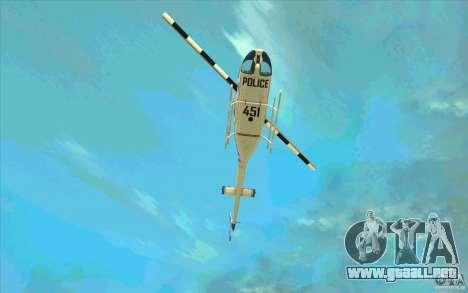 Bell 206 B Police texture1 para vista lateral GTA San Andreas