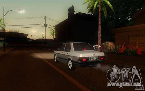 BMW E28 525e ShadowLine Stock para la visión correcta GTA San Andreas