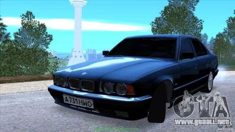 BMW E34 V1.0 para vista inferior GTA San Andreas