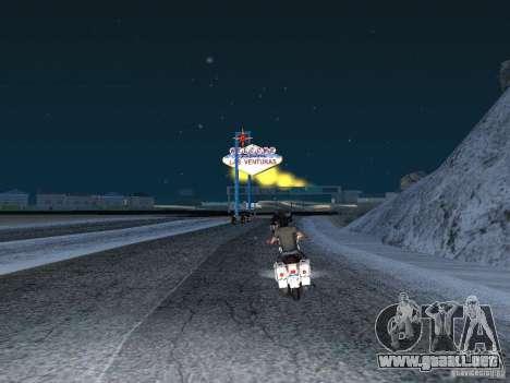 Nieve para GTA San Andreas tercera pantalla