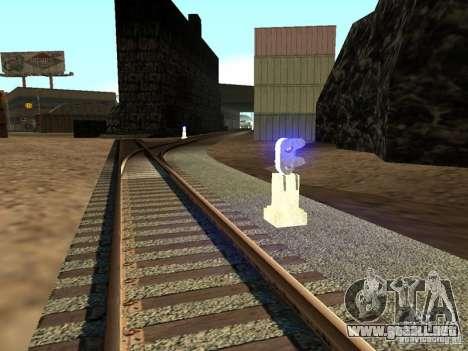 Luces de tráfico ferroviario 2 para GTA San Andreas segunda pantalla