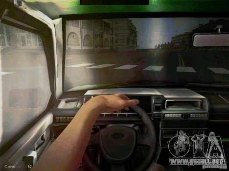 Taxi Vaz 2109 corto-kryloe para GTA San Andreas vista hacia atrás