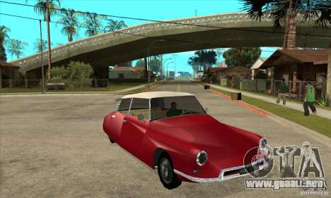Citroen ID 19 para GTA San Andreas vista hacia atrás