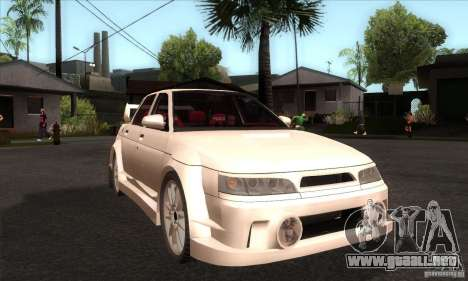 VAZ 2110 WRC para GTA San Andreas vista hacia atrás