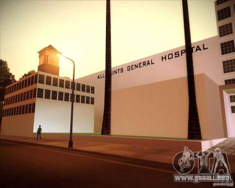 All Saints Hospital para GTA San Andreas tercera pantalla