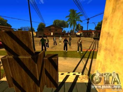 Área de fiesta para GTA San Andreas segunda pantalla