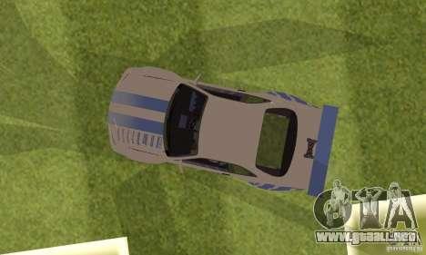 Nissan Skyline R-34 2Fast2Furious para GTA San Andreas vista hacia atrás