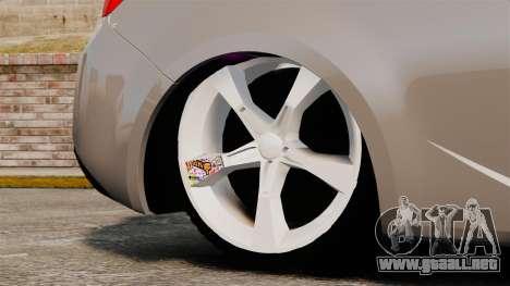 Kia Cerato Koup Edit para GTA 4 vista hacia atrás