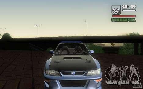 Subaru Impreza 22B para GTA San Andreas vista hacia atrás