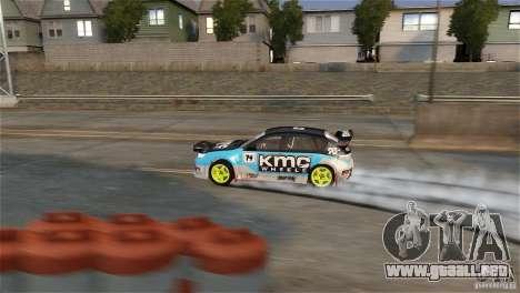 Subaru Impreza WRX STI Rallycross KMC Wheels para GTA 4 vista hacia atrás