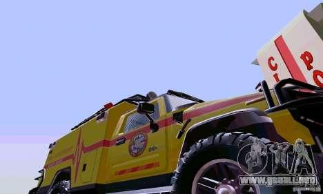 Hummer H2 Ambluance de transformadores para GTA San Andreas left